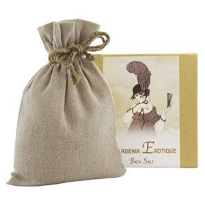 Gardenia Exotique Bath Salts with Linen Bag