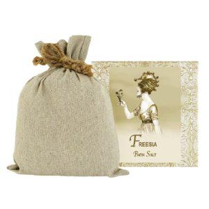 Freesia Bath Salts with Linen Bag (16oz)