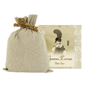 Gardenia Exotique Bath Salts with Linen Bag (16oz)
