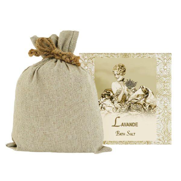 Lavender Bath Salts with Linen Bag (16oz)