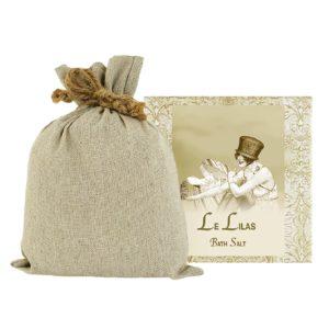 Le Lilas / French Lilac Bath Salts with Linen Bag (16oz)