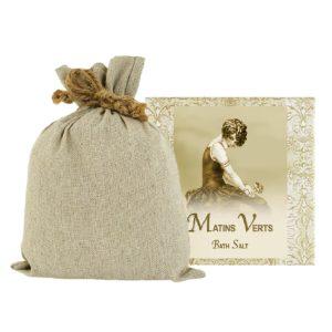 Matins Verts Bath Salts with Linen Bag (16oz)