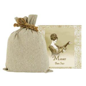 Muguet Bath Salts with Linen Bag (16oz)
