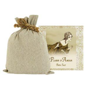 Plaisir Bath Salts with Linen Bag (16oz)
