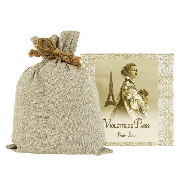 Violette de Paris Bath Salts with Linen Bag (16oz)