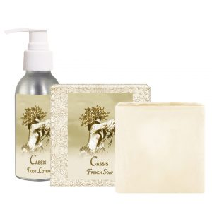 Cassis Body Lotion (4oz) & French Soap (5oz)