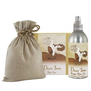 Delice Bath Salts with Linen Bag (16oz) & French Body Argan Oil (8oz)