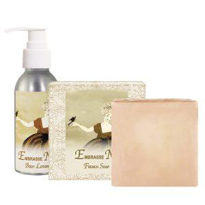 Embrasse Moi Body Lotion (4oz) & French Soap (5oz)