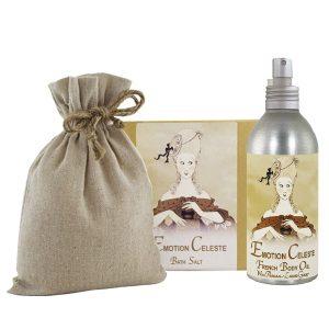 Emotion Bath Salts with Linen Bag (16oz) & French Body Argan Oil (8oz)