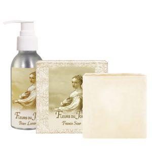 Fleurs de Jour / Marina Blue Body Lotion (4oz) & French Soap (5oz)