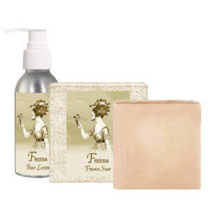 Freesia Body Lotion (4oz) & French Soap (5oz)