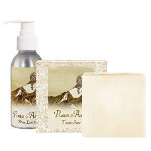 Plaisir Body Lotion (4oz) & French Soap (5oz)