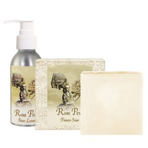 Rose Petal Body Lotion (4oz) & French Soap (5oz)