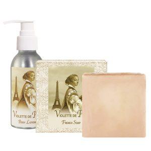 Violette de Paris Body Lotion (4oz) & French Soap (5oz)