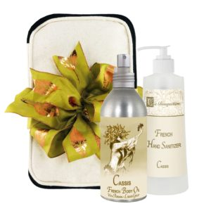 Cassis Body Argan Oil (8oz) & Hand Sanitizer (9oz)
