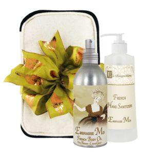 Embrasse Body Argan Oil (8oz) & Hand Sanitizer (9oz)