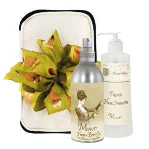 Muguet Body Argan Oil (8oz) & Hand Sanitizer (9oz)