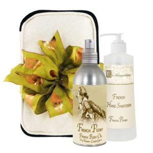 French Peony Body Argan Oil (8oz) & Hand Sanitizer (9oz)