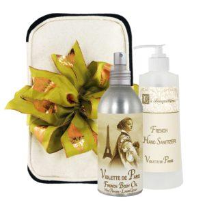 Violette de Paris Body Argan Oil (8oz) & Hand Sanitizer (9oz)