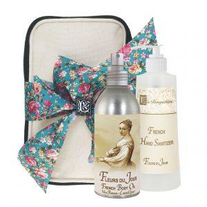 Fleurs du Jour / Marina Blue Body Argan Oil (8oz) & Hand Sanitizer (9oz)