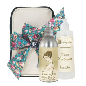 Fleurs du Jour / Marina Blue Body Argan Oil (8oz) & Hand Sanitizer (9oz)