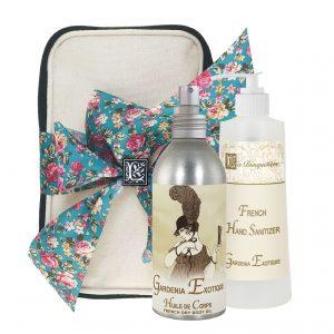 Gardenia Exotique Body Argan Oil (8oz) & Hand Sanitizer (9oz)
