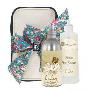 Le Lilas / Lilac French Body Argan Oil (8oz) & Hand Sanitizer (9oz)