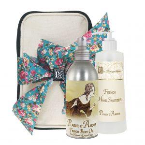 Plaisir Body Argan Oil (8oz) & Hand Sanitizer (9oz)