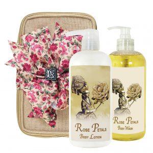 Rose Petal Body Lotion & Body Wash (17oz)