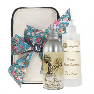 Rose Petal Body Argan Oil (8oz) & Hand Sanitizer (9oz)