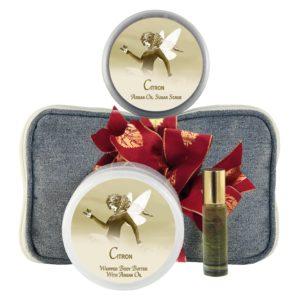 Citron Body Butter (8oz), Sugar Scrub (8oz) & Roll-on Parfum (10ml)