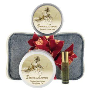 Dimanche Body Butter (8oz), Sugar Scrub (8oz) & Roll-on Parfum (10ml)
