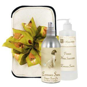 Esperance Santal Body Argan Oil (8oz) & Hand Sanitizer (9oz)