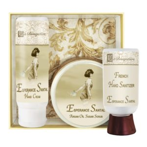 Esperance Santal Hand Cream (4oz), Sugar Scrub (8oz) & Hand Sanitizer (2oz)
