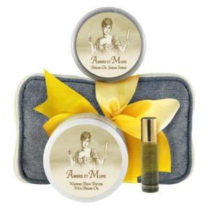 Ambre Body Butter (8oz), Sugar Scrub (8oz) & Roll-on Parfum (10ml)