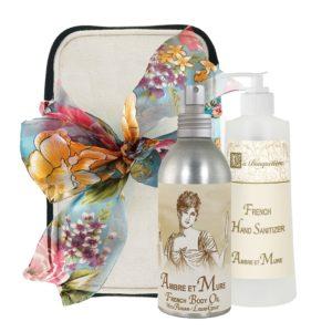 Ambre Body Argan Oil (8oz) & Hand Sanitizer (9oz)