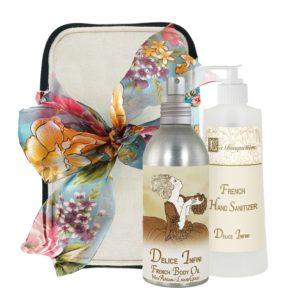 Delice Body Argan Oil (8oz) & Hand Sanitizer (9oz)
