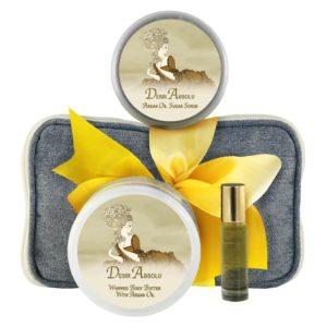 Desir Body Butter (8oz), Sugar Scrub (8oz) & Roll-on Parfum (10ml)