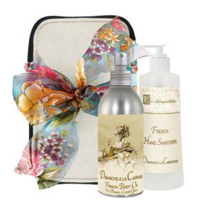 Dimanche Body Argan Oil (8oz) & Hand Sanitizer (9oz)