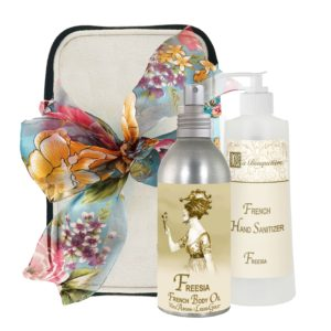 Freesia Body Argan Oil (8oz) & Hand Sanitizer (9oz)