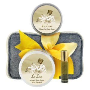 Le Lilas / French Lilac Body Butter (8oz), Sugar Scrub (8oz) & Roll-on Parfum (10ml)