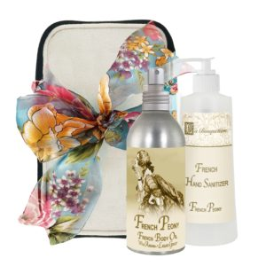 French Peony Body Argan Oil (8oz) & Hand Sanitizer (9oz)