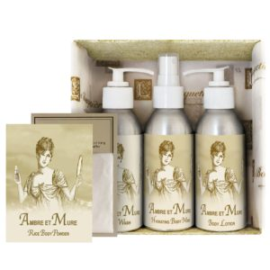 Ambre et Mure Gift Set (4oz Lotion/Mist/Wash - Bonus Rice Body Powder Envelope)
