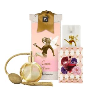 Citron French Perfume (4.32 oz./128 ml.) & Eau de Parfum Spray Sanitizer (0.67 oz./20 ml.)