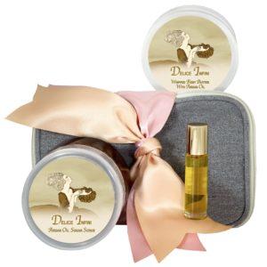 Delice Infini Body Butter (8oz), Sugar Scrub (8oz) & Roll-on Parfum (10ml)