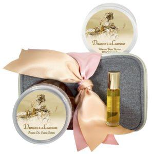 Dimanche a la Campagne Body Butter (8oz), Sugar Scrub (8oz) & Roll-on Parfum (10ml)