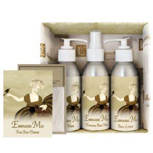 Embrasse Moi Gift Set (4oz Lotion/Mist/Wash - Bonus Rice Body Powder Envelope)