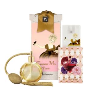 Embrasse Moi French Perfume (4.32 oz./128 ml.) & Eau de Parfum Spray Sanitizer (0.67 oz./20 ml.)