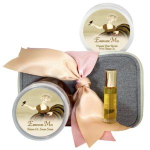 Embrasse Moi Body Butter (8oz), Sugar Scrub (8oz) & Roll-on Parfum (10ml)