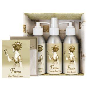 Freesia Gift Set (4oz Lotion/Mist/Wash - Bonus Rice Body Powder Envelope)